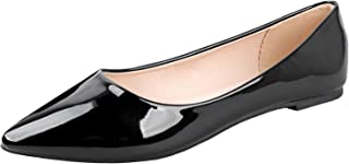 Angie-53 Women's Classic Pointy Toe Ballet Slip On Flats Shoes
