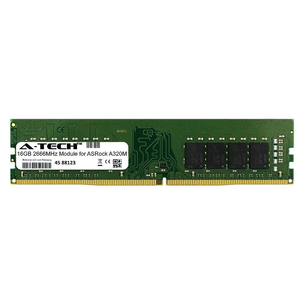 A-Tech 16GB Module for ASRock A320M Desktop & Workstation Motherboard Compatible DDR4 2666Mhz Memory Ram (ATMS395712A25823X1)