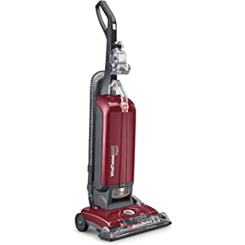 Hoover UH30600 WindTunnel Max Bagged Upright Vacuum Cleaner, with HEPA Media Filtration, 30ft. Power Cord, Red