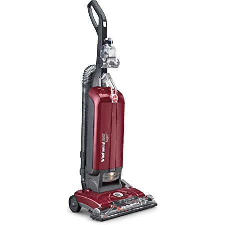 Hoover WindTunnel Max Bagged Upright Vacuum Cleaner, with HEPA Media Filtration, 30ft. Power Cord, UH30600, Red