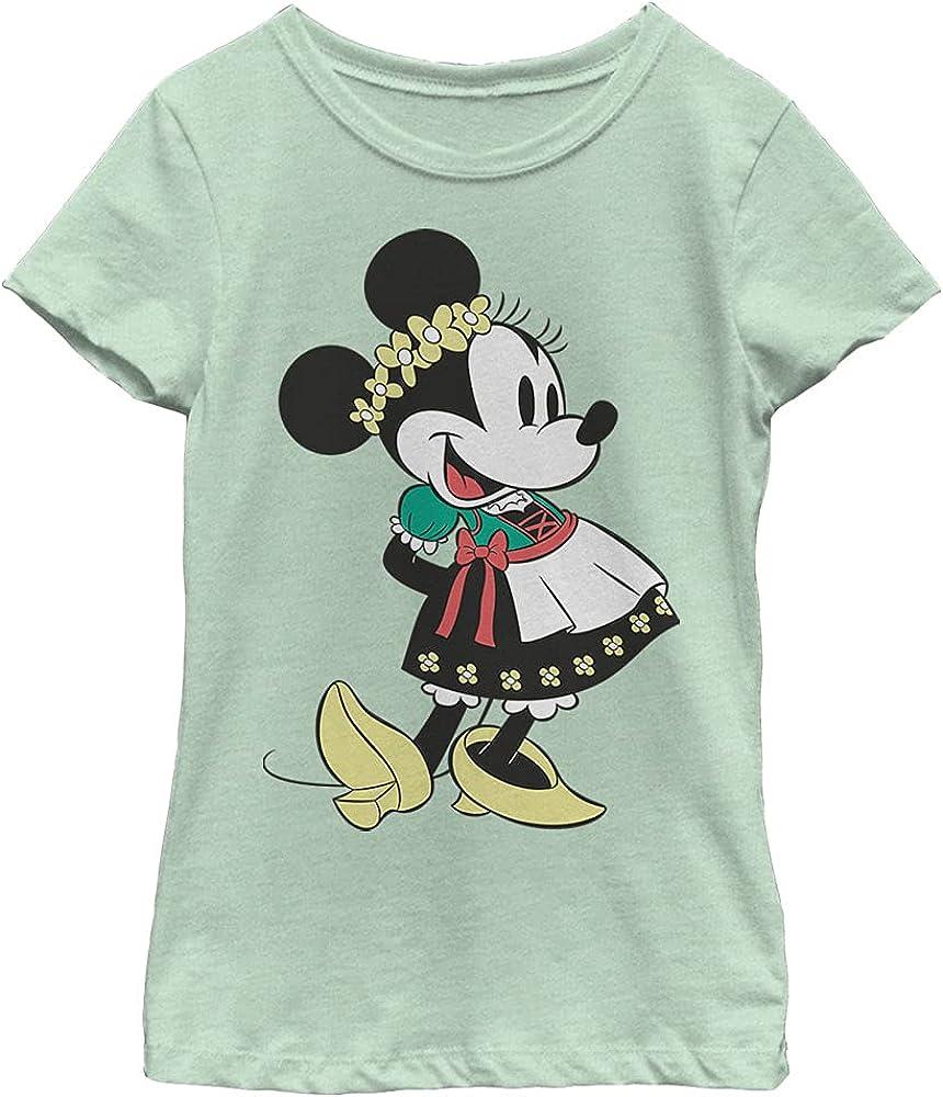 Disney Characters Dirndl Basics Girl's Heather Crew Tee
