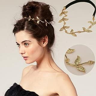 Jovono Head Chain Hair Accessories Bohemian Hair Band Gold Headpiece Leaf Chain Headband for Women