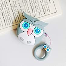 Adobox Airpods 1&2 Case, OWL 3D Cartoon Silicone Airpods Cover, Shockproof Protective Earphone Cover Skin Compatible with Apple Airpods 1&2 (OWL-Gary)