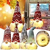 SZDS 1/2PC Glowing Santa Rudolph Doll Cloth Birthday Present for Home Christmas Holiday Decoration Christmas Ornaments Christmas Home Decor Gifts for Friends Night Desk Lamp(A)