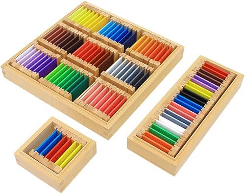 Wumudidi Tablettes de Couleurs de Montessori Sensorial Materials, 88pcs Professional Edition auxiliaires, 3 Boîtes