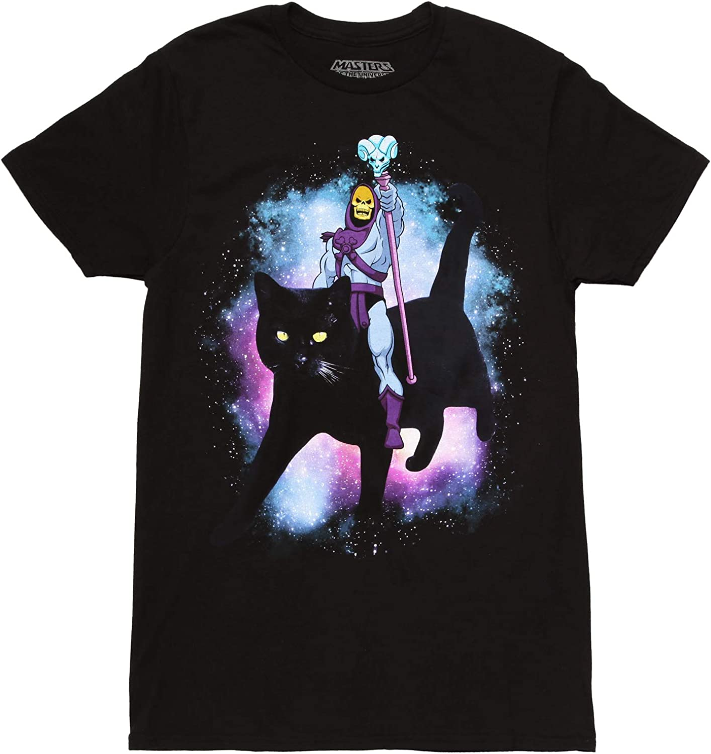 Masters of New life New arrival The Universe Skeletor a Cat Riding T-Shirt Adult