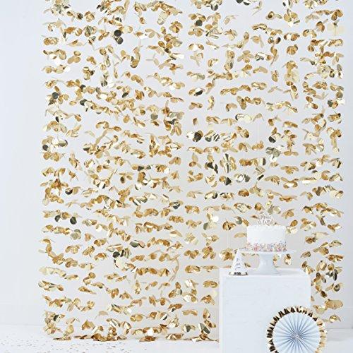 Ginger Ray Fotohintergrund mit Goldfolie, Blumenmotiv, zum Aufhängen