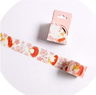 15/30mm Zoo Fruit Paper Decorative Masking Tapeese Stationery Crafts and Scrapbooking Cute Tape,N