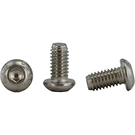 """Stainless 5/16-18 x 5/8"""" (5/8"""" to 3"""" Available) Socket Button Head Cap Screws, Full Thread, Hex Drive, Stainless Steel 18-8, Coarse Thread (5/16-18 x 5/8)"""