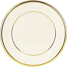 Box of 36 American White CAC China REC-5C Rolled Edge 5-1//2-Inch Stoneware Coupe Round Plate