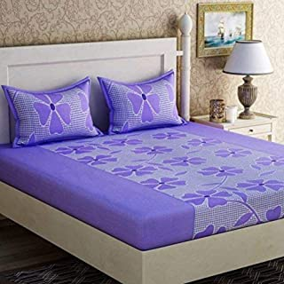 Fabture Cotton 180 TC Bedsheet (Full_Purple)