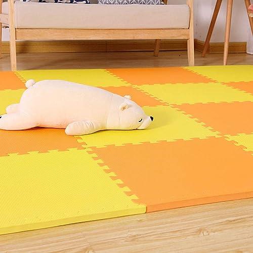 ZI LING SHOP- Schaumspielmattenfliesen - ineinandergreifende Fu tten für Kinder - Mehrfarbige Schaumfliesen 50x50x2cm blanket (Farbe   A, Größe   10 pieces)