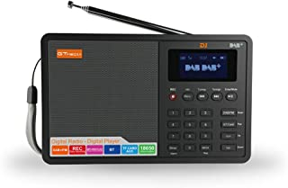 """Gecheer D1 Portable Digital DAB+ FM Radio RDS DRC Receiver BT Speaker Stereo with 1.8"""" LCD Display Support AUX-in TF 3.5mm..."""