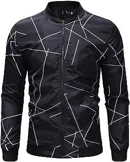LYLIFE Men's Slim Fit Lightweight Sportswear Jacket Casual Bomber Jacket