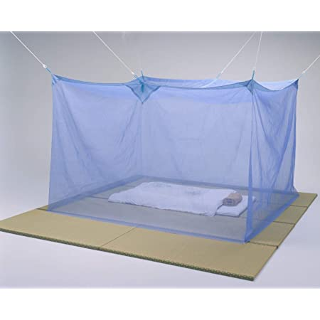 日本製 近江蚊帳 3畳用 150×200cm 高さ190cm ブルー