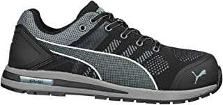 Puma Safety Shoes - Elevate Knit Black Low S1P ESD HRO SRC - 643160 (43)