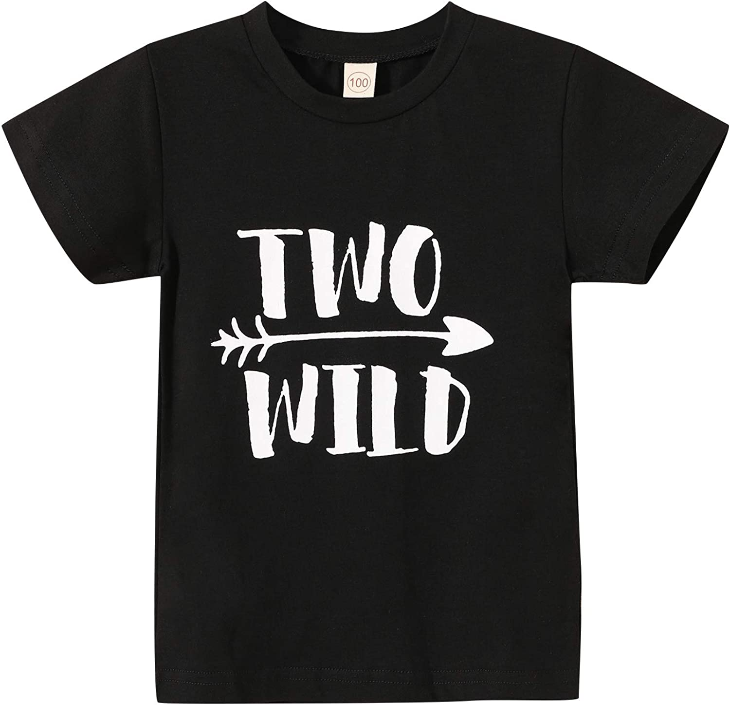 Second Birthday T-Shirt Baby Boy Girl Two Wild Blouse Two Year Old Birthday Top Clothes Outfits