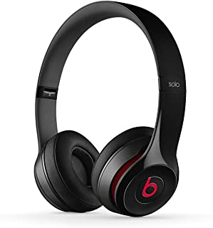 Beats by Dr. Dre Beats Solo 2 Headphones Bluetooth Wireless Headphone On Ear | Noise Cancelling | for iOS & Android - Black (Renewed)