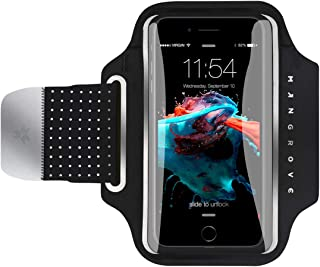 Water Resistant Cell Phone Armband for iPhone X, Xs, 8 Plus, 7 Plus, Samsung Galaxy S9, S9+, Note 8, S8, 5-6 Inch Reflective Running Workout Exercise Arm Phone Holder, Key/Card Holder + Free Extender