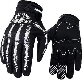 Akemaio Motocross Handschuhe für Reiter, 1 Paar Motorrad Skelett Knochen Motocross Handschuhe im Freien windundurchlässigen Wasserdichten MTB Sport Handschuhen