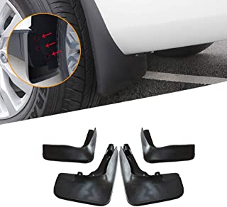 Gaosheng 4pcs Car Mudflaps Splashguard Mudguard Plastic Front Rear Wheel Mudguard for Model 3 with Fixing Screws