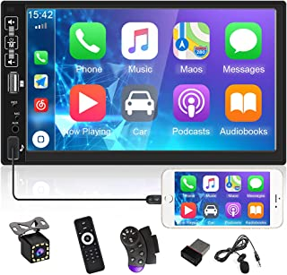 $87 » UNITOPSCI Double Din Car Stereo Radio 7 Inch HD Capacitive Touch Screen Car Multimedia Player with Bluetooth FM Radio USB ...