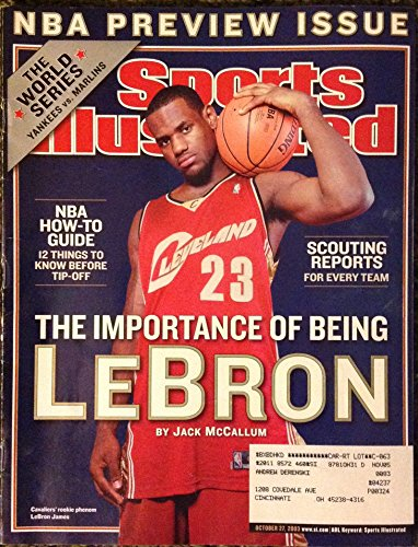 Sports Illustrated Magazine - LeBron James on Cover NBA Preview Issue (October 27, 2003)