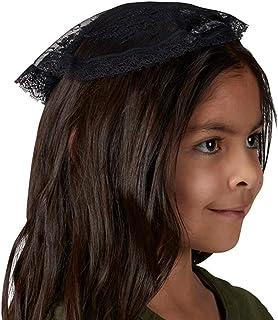إكسسوار شعر نيدزو كاب كبيل صغير أسود للبنات بطول 20.32 سم