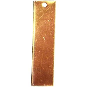 RMP Stamping Blanks 20 Pack .020 Inch // 24 Gauge 1 Inch x 2 Inch Rectangular Brass