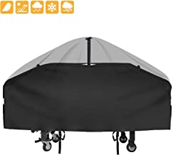 Grisun 36 inch Griddle Cover for Blackstone Flat Top Grill Griddle Station 4 Burner, 600D Heavy Duty Waterproof Anti-UV Canvas Flat Top BBQ Cover with Support Pole to Prevent Water Leaking
