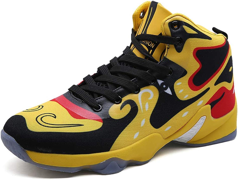 YUL Herren-Basketball-Schuhe Leistung Stodmpfung Basketball Stiefel Trainer High-Top Mode Turnschuhe leichte atmungsaktive Laufschuh