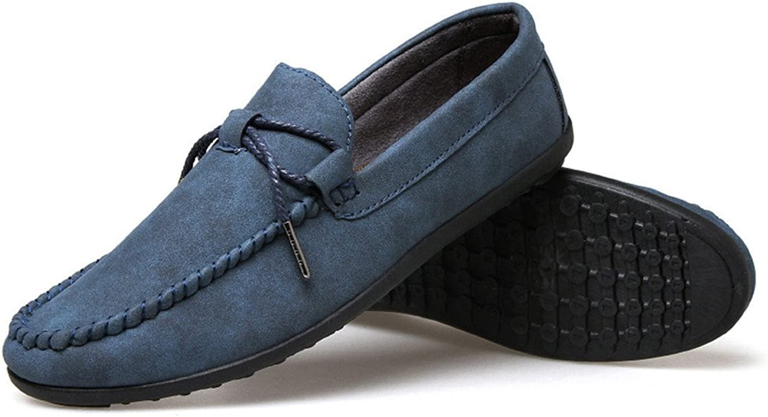 Men's casual leather shoes, fashionable casual shoes, pedal pedal shoes, casual shoes, casual shoes,Deep bluee,Forty-two