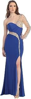 US Fairytailes One Shoulder Rhinestone Dress Long Gown #21047