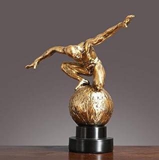 Tauzveok Résine Silence est d'or Gens Statues Sculptures, Artisanat créatif Ornements d'art de décoration de Bureau Accuei...