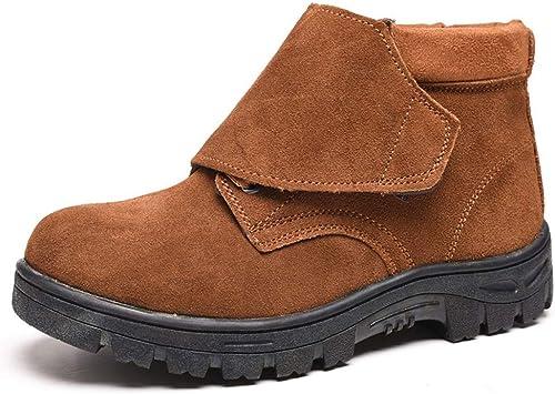 EGS-chaussures Bottes de Travail, Chaussures de sécurité, Chaussures de Soudure électrique, Chaussures de sécurité, Anti-brisant, Anti-perforant, pour Hommes Chaussures de Cricket