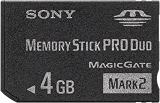 Sony Memory Stick PRO Duo (Mark 2) Memory Card 4 GB 4GB 4 Gig for Digital Camera Sony Cybershot Cyber-Shot/Alpha Series