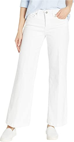 Petite Wide Leg Trouser in Optic White