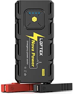 LOFTEK 2200A Peak 20800mAh Car Jump Starter (Up to 8.0L Gas or 6.5L Diesel Engine), 12V Portable Power Pack Auto Battery Booster with Built-in LED Light