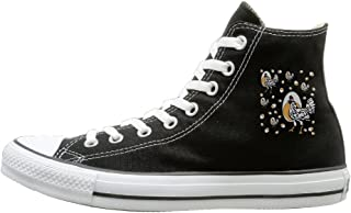 Roseanne's Chicken Canvas Shoes High Top Design Black Sneakers Unisex Style