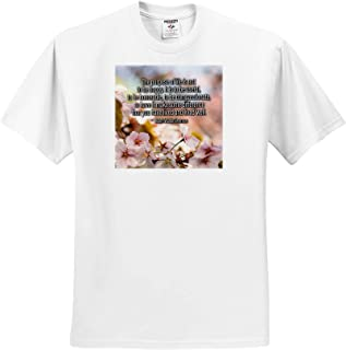 3dRose Alexis Design Sakura Cherry Flowers T-Shirts Quotes About Life Henry David Thoreau Quote There is no Value in