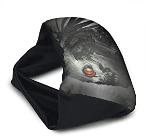Voyage Travel Pillow Eye Mask 2 in 1 Portable Neck Support Scarf Skull Robot Ergonomic Naps Rest Pillows Sleeper Versatile for Airplanes Car Train Bus Home Office