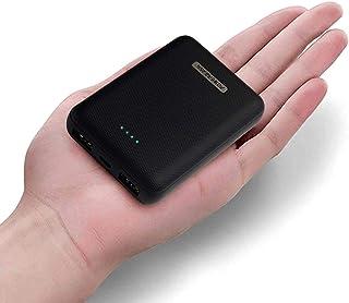 HOUBU 10000mAh Mini Cargador portátil Banco de energía Batería Externa de Alta Capacidad con Salida USB Doble para iPhone X / 8/7, Samsung, teléfonos Inteligentes y más (Negro)