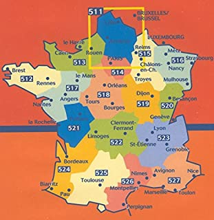 Michelin Map France Regional : Map 511 Nord-Pas-de-Calais, Picardie ; tear-resistant ; 1/200,000 (French Edition)
