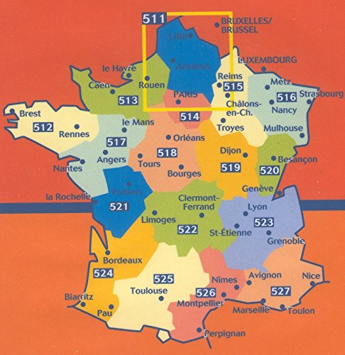 Michelin Map No. 527 Provence, Alpes, French Riviera, Cote d'Azur (France) : Scale 1:200,000