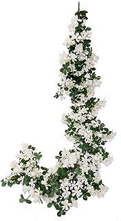 Veryhome Artificial Cherry Blossom Garland Hanging Vine Silk Garland Wedding Party Decor (White)