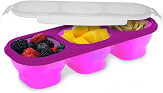 Smart Planet Eco Collapsible Portion Perfect Snack Kit, Pink