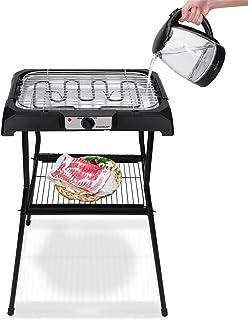 comprar comparacion Aigostar Lava Pro - Barbacoa eléctrica con patas, Grill, 2000W, bandeja recoge grasa extraíble, uso con agua: evita los hu...