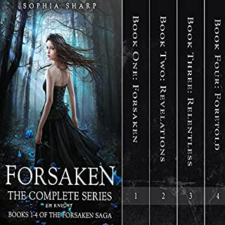 The Forsaken Saga Complete Box Set (Books 1-4)                   By:                                                                                                                                 Sophia Sharp,                                                                                        E. M. Knight                               Narrated by:                                                                                                                                 Pamela Lorence                      Length: 27 hrs and 11 mins     59 ratings     Overall 4.0