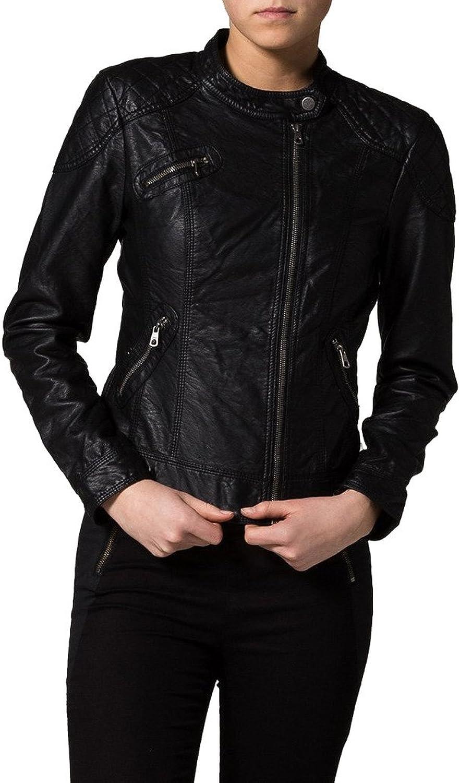 Women Lambskin Motorcycle Biker Leather jacket KLW040