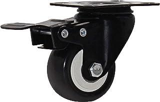 4 Stks 2 Inch 50Mm Zware 180 Kg Zwarte Zwenkwielen Trolley Meubels Caster Rubber (Kleur: D2, Maat: 2 Inch)